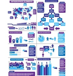 Infographic demographics purple 11 vector