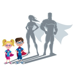 Kids superhero concept vector