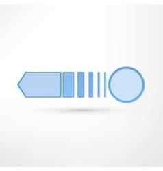 - pure white arrow vector