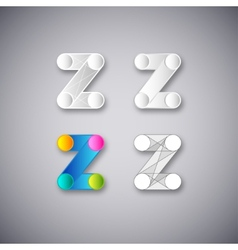 Abstract combination of letter z vector