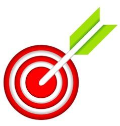 Dart hitting a target vector