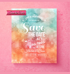 Elegant save the date wedding template vector