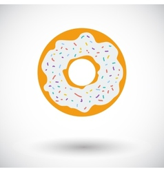 Donut flat icon vector