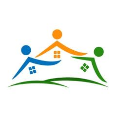 Real estate houses logo vector