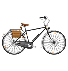 City bicycle vector