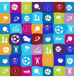 Bright sports icons set vector