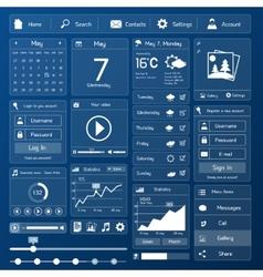 Flat user interface template vector