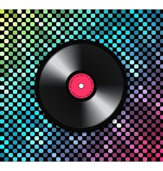 Music background with vinyl record vector