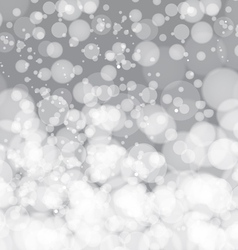 Glittering silver christmas background vector
