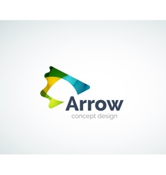 Abstract arrow logo design vector