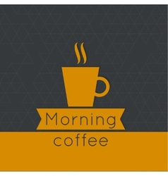 Morning coffee label vector