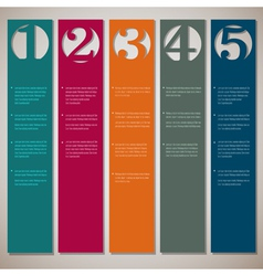 Vertical paper numbered banners vector