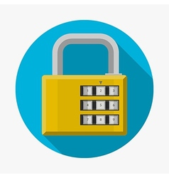 Flat icon for padlock vector