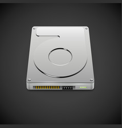 Data storage hard disc drive icon vector