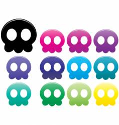 Jellyfish skulls vector