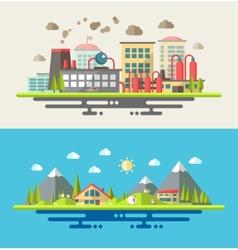 Modern flat design conceptual ecological vector