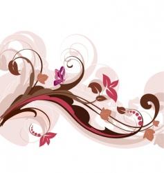 Floral design horizontal vector