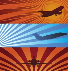 Airplane banners vector