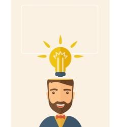 Bright idea of man vector