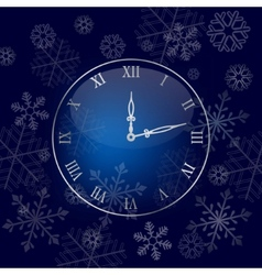 Christmas wall clock background vector