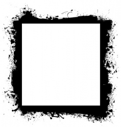 Black in border grunge effect vector