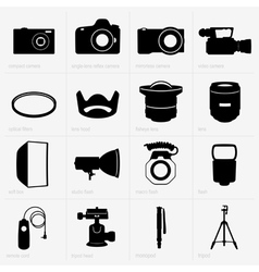 Photo equipment vector