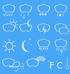 Icons of weather vector