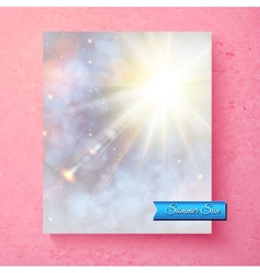 Summer sunburst in a soft ethereal sky vector