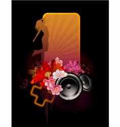 Floral music banner vector