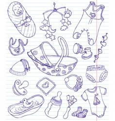 Baby doodles vector
