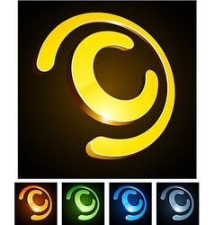 C vibrant emblems vector
