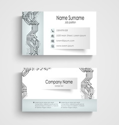 Modern business card with printed circuit board vector