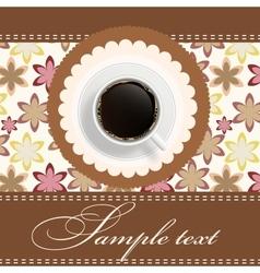 Coffee invitation background vector