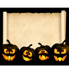 Pumpkins on the background of papyrus vector