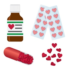 Set of medical pills vector