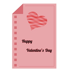 Happy valentines day - red paper list vector