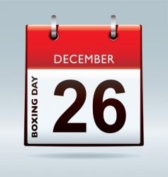Boxing day calendar vector