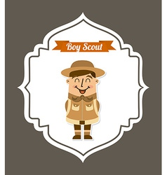 Boy scout design vector