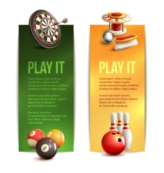 Game vertical banners vector