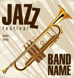 Jazz festival background vector