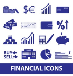 Financial and money icons eps10 vector