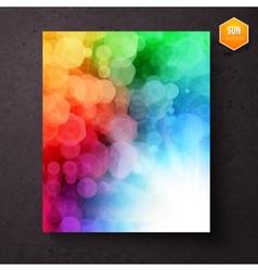 Rainbow abstract pattern above a sunburst vector