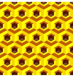 Honeycomb background 3d mosaic vector