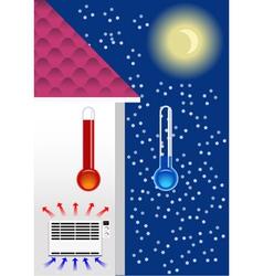Heater concept vector