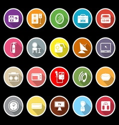 House related icons with long shadow vector