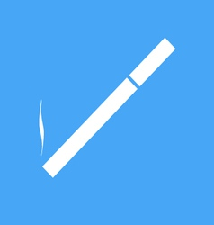 Icon cigarettes on a blue background vector