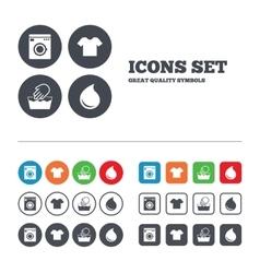 Wash icon not machine washable symbol vector