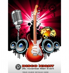 Global music event background vector