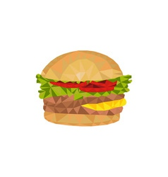 Hamburger low polygon vector