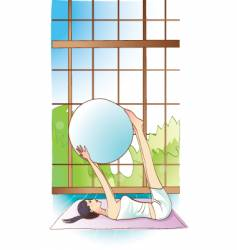 Pilates girl vector
